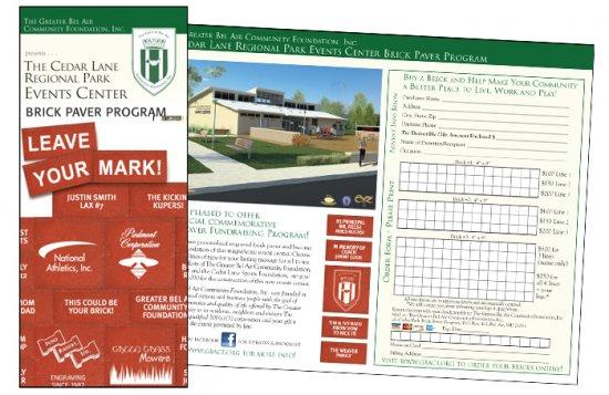 The Cedar Lane Regional Park Events Center Brick Paver Program