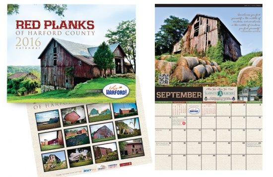 Red Planks 2016 Calendar