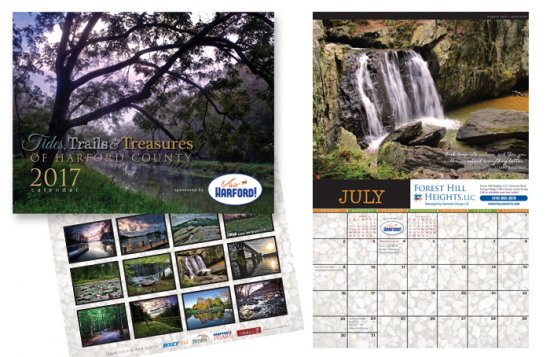Tides, Trails and Treasures 2017 Calendar