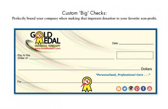 "Custom ""Big"" Checks"