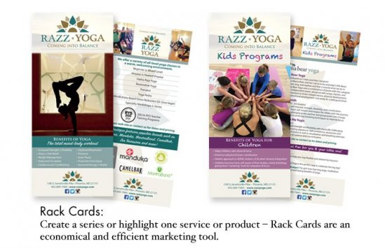Razz Yoga Rack Cards